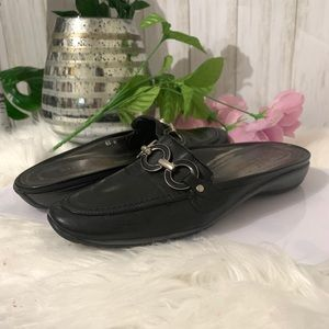 Sesto Meucci Leather Black Mules size 6.5